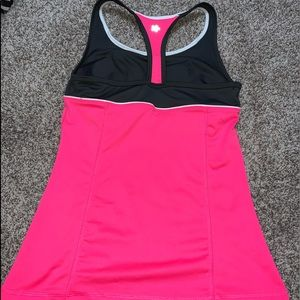 Pink Dri-fit workout tank top